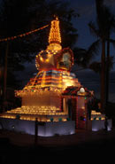 Stupa at Night for offerings